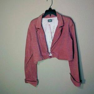 Vtg 90s Pink Cropped Jacket